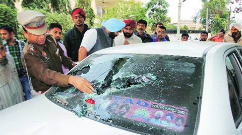 After the clash at Sarabha Nagar in Ludhiana on Thursday. Gurmeet Singh