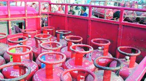 The price of a non-subsidised cylinder for this month is Rs 1,203, including VAT, while it was Rs 1,310 in January.  Gurmeet Singh