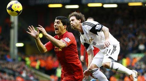 Rodgers did not want to curb their attacking ways that have allowed Luis Suarez and Sturridge emerge as the league's top two scorers with a combined 41 goals (Reuters)