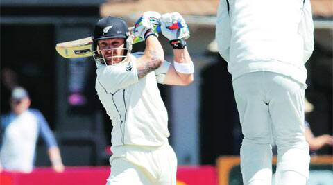 With an unbeaten stand of 158 runs for the sixth wicket with BJ Watling, Brendon McCullum rescued his team with 114 runs. This was the Kiwi captain's second 3-digit score of the series, after his 224 in Auckland. Reuters