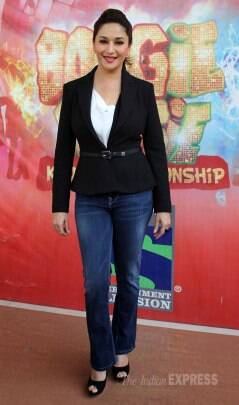Madhuri Dixit, Juhi Chawla style it up in black and white