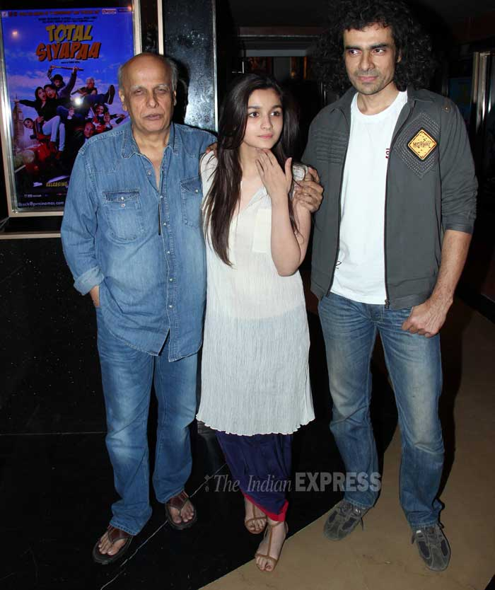 Filmmaker Mahesh Bhatt fancied an outing with his actress daughter Alia Bhatt and her 'Highway' director Imtiaz Ali on Saturday (February 22) in Mumbai. (Photo: Varinder Chawla)