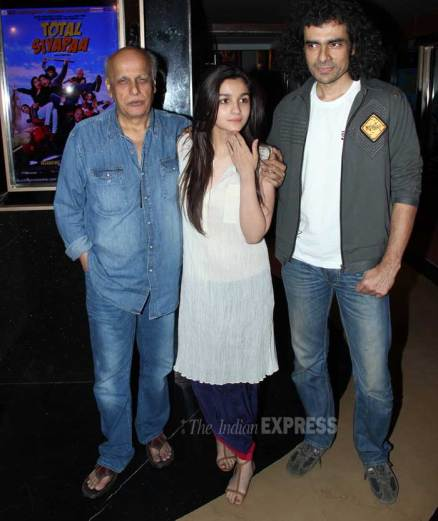 Alia Bhatt, dad Mahesh, Imtiaz Ali out for 'Highway'