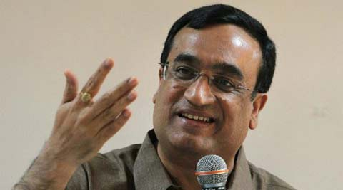 Ajay Maken addressing the media in New Delhi. (PTI)