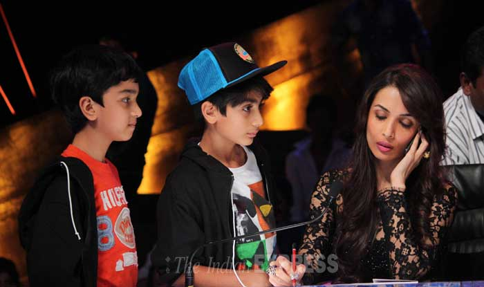 Malaika's son Arhaan also accompanied his mom to the sets. (Photo: Varinder Chawla)