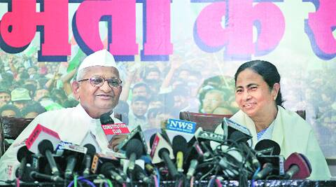 Last week with Anna Hazare, who has pledged his support.Tashi Tobgyal