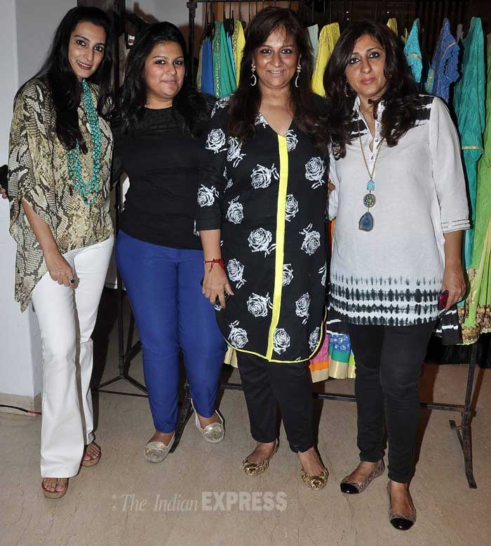 Mandira, Madhoo attend Suniel's wife Mana's store launch