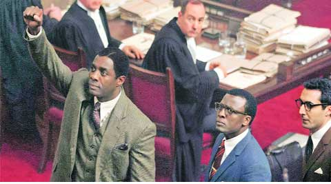 Idris Elba and Tony Kgoroge in Mandela: Long Walk To Freedom