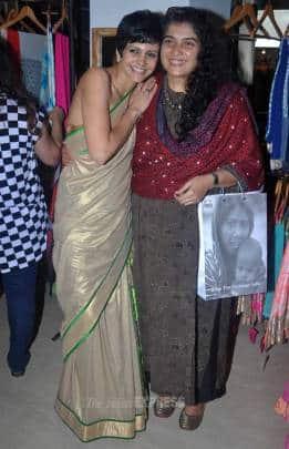 Mandira, Madhoo attend Suniel's wife Mana's store launch