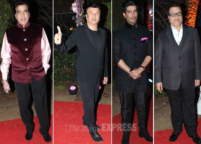 Actor Jeetendra, music director Anu Malik, designer Manish Malhotra and Ramesh Taurani were all suited and booted. (Photo: Varinder Chawla)