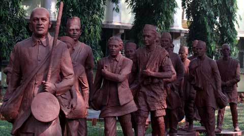 A team on IIT Bombay campus is set to give 80 people - who accompanied Mahatama Gandhi on Dandi Marchi - their due. (IE Photo: Vasant Prabhu)