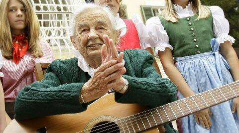 Maria was born in 1914 and was the second-eldest daughter of Georg Johannes Von Trapp and his first wife, Agathe Whitehead von Trapp. (Reuters)