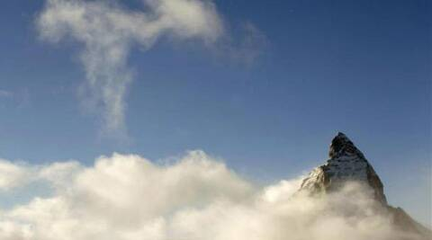 Matterhorn peak is a  mountain in the Pennine Alps on the border between Switzerland and Italy. (Reuters)