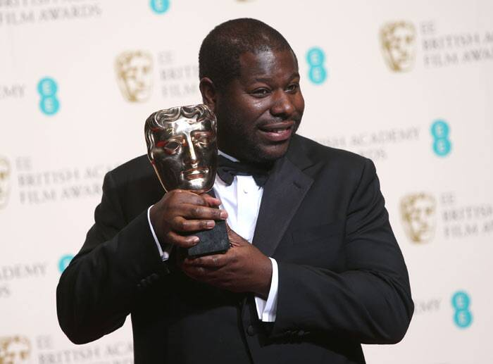 Director Steve McQueen picked up the Best Film BAFTA for '12 Years A Slave'. (AP)