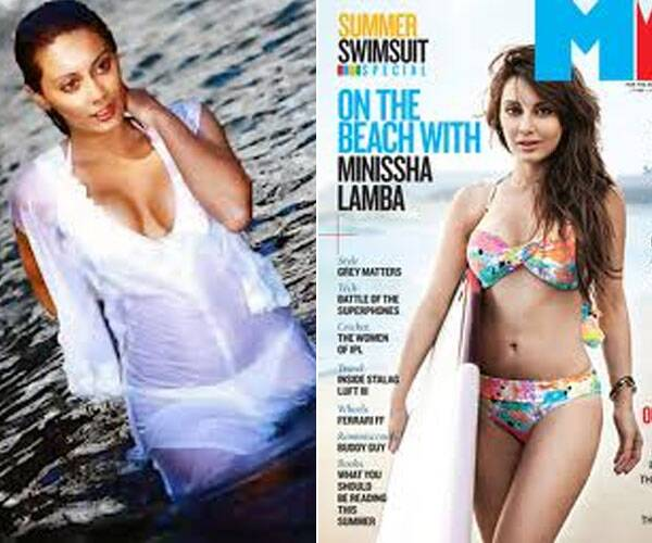 Minissha Lamba shed her girl-next-door image when she wore a white bikini in Kidnap and since then there has been no looking back for the coy Yahaan girl as she posed in a floral bikini for the cover of Man's World magazine.