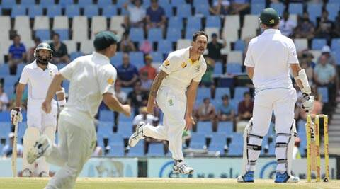 Australia and Mitchell Johnson had the home team on the ropes throughout the opening match (AP)