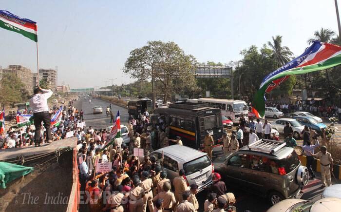 But nobody was detained from the spot, police said. (IE Photo: Pradeep Kocharekar)