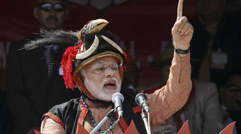 "Addressing a rally in Arunachal, Narendra Modi had slammed China for its ""expansionist mindset"".  (PTI Photo)"