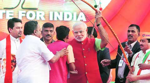 Chief Minister Narendra Modi in Ahmedabad on Thursday. (Javed Raja)