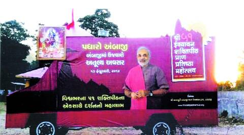 Ambaji in Banaskantha district has become the biggest launchpad for Modi's Prime Ministerial campaign in Gujarat. (Express)