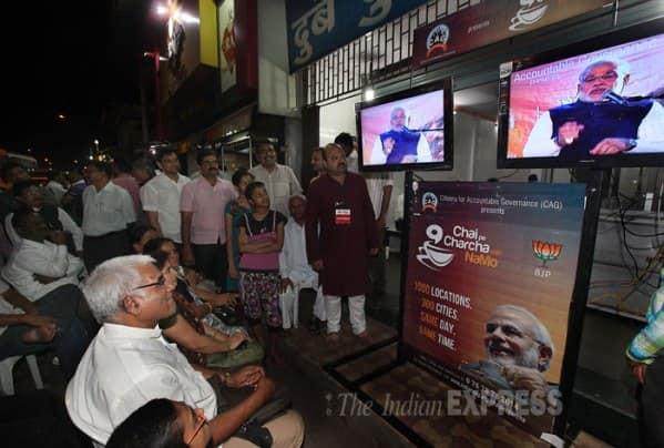 'Chai wala' Modi sips tea, attacks Congress on video conference