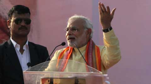 Modi hit out at Naveen Patnaik, without naming him, over the formation of a Third Front.