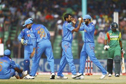 Mohammed Shami was the pick of Indian bowlers, scalping 4/50 from his quota (AP)