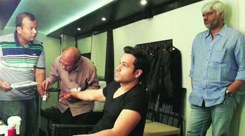 Emraan Hashmi  gets ready to don the  evil look as Vikram Bhatt  looks on