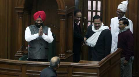 Speaker of the Delhi Assembly Maninder Singh Dhir was treated unlike any of his predecessors by members of the House. (Express Archive)