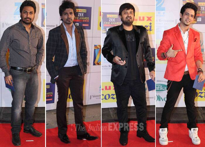 Style men on the block – Mudassir, Mithoon, Wajid and Nikhil Diwedi. (Photo: Varinder Chawla)