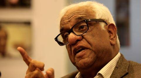 Justice Mukul Mudgal at the Idea Exchange on Tuesday (IE Photo Ravi Kanojia)
