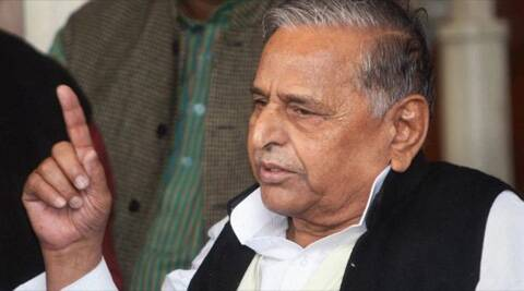 The cane farmers agitated before Mulayam Singh demanding payment of cane dues for the past and current cane crushing seasons.