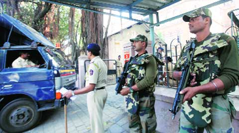 Security arrangements were stepped up outside  a special MCOCA court Thursday. Prashant Nadkar