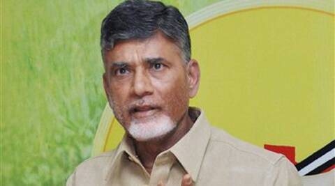 File photo:  TDP chief N Chandrababu Naidu addressing media in Hyderabad on Wednesday.