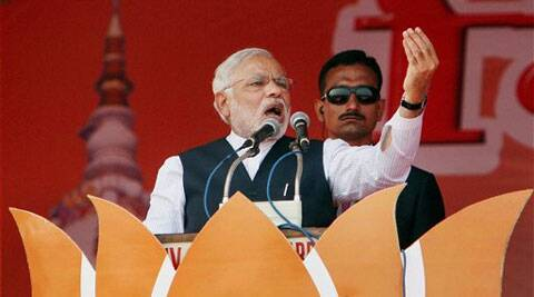 Modi accused the Congress of putting one religion against another, one caste against another and one state against another. (PTI)