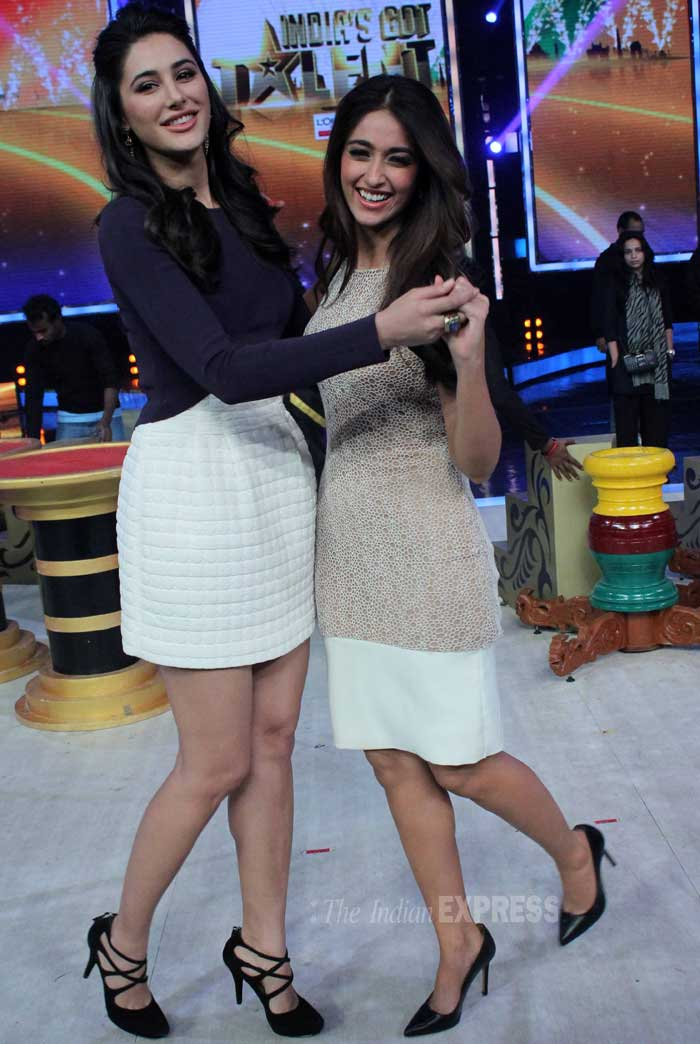 Nargis and Illeana are dancing partners! (Photo: Varinder Chawla)