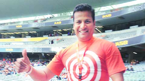 Jude Menezes at the ODI match. Daksh panwar