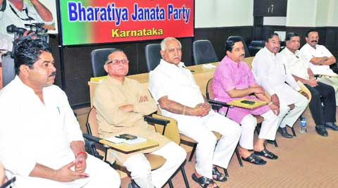 At a meeting of the state leadership Monday to short list candidates for parliament polls, the former CM pushed for Tumkur MP G S Basavaraj who is facing resistance.