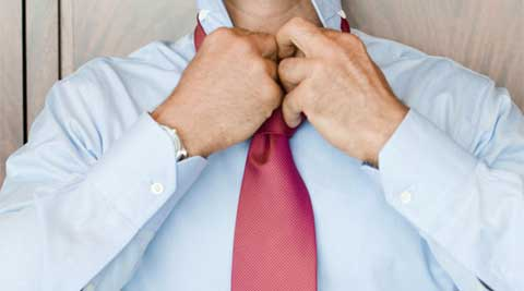 The existing language described the process of tying a knot as a sequence of motions between the left, centre and right of the chest. (Thinkstock)
