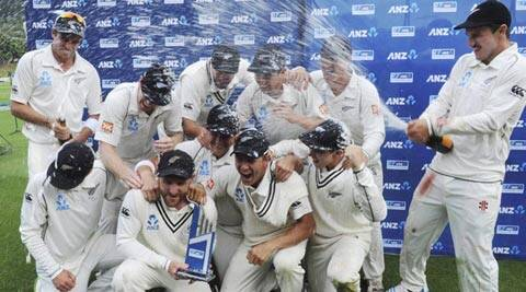 The New Zealand squad seems a happy unit with Brendon McCullum and coach Mike Hesson sharing a good rapport from their days at Otago (AP)