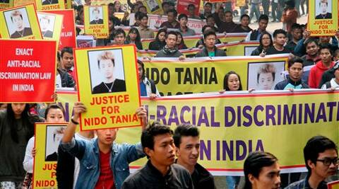 Nido Taniam, an Arunachal youth, was killed by shopkeepers in Lajpat Nagar, Delhi.