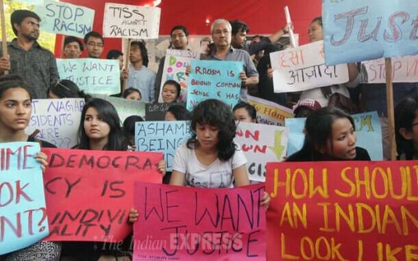 Nido Taniam case: Students union stage protest in Mumbai