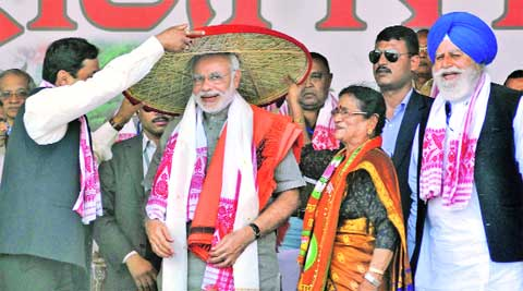 Modi in Imphal Guwahati on Saturday.