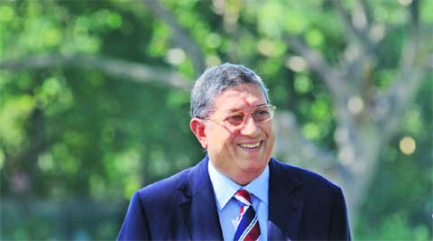 BCCI  president N Srinivasan, the brain behind the restructuring of the ICC, will take over as its first-ever chairman in July