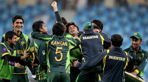 Zafar Gohar and Amad Butt helped Pakistan recover from 142/7 to win with five balls to spare (ICC)