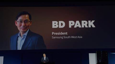 Samsung South West Asia CEO B D Park at Samsung Forum in Bali