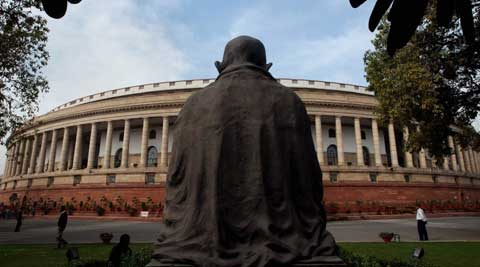 High drama was witnessed in Rajya Sabha over Telangana Bill, which could not be introduced in the House. (PTI Photo)
