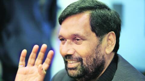 Paswan at the Idea Exchange in New Delhi Tuesday. Ravi Kanojia