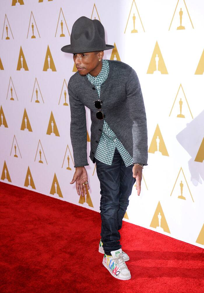 Pharrell Williams was funky on the red carpet. (AP)