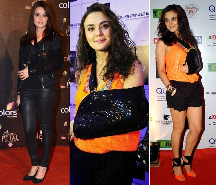 Injured yet fab: Esha Deol, SRK's style statement with injuries
